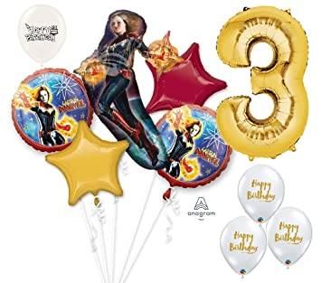 Amazon.com: Ultimate Capitán Marvel Avengers 3er cumpleaños ...