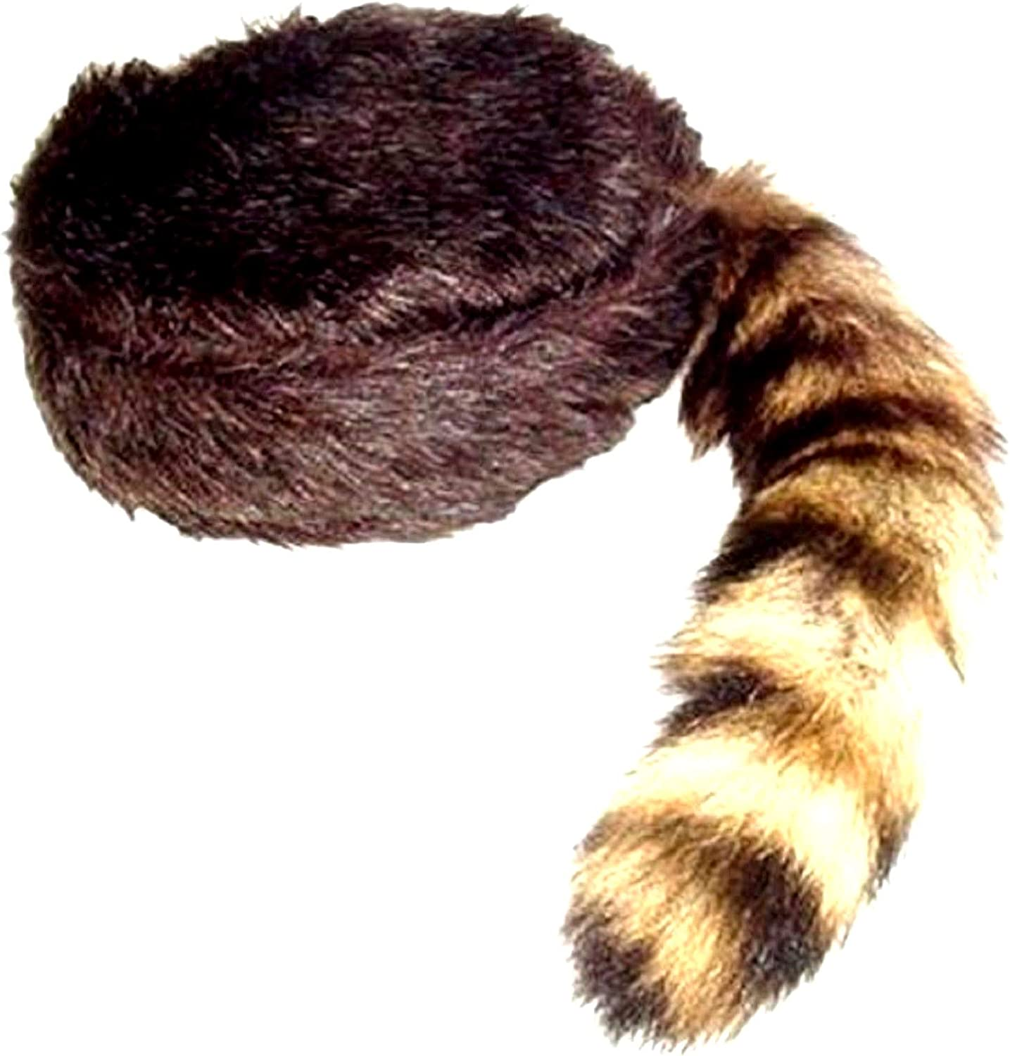 Amazon.com: Daniel Boone Coonskin Cap, Racoon Tail, SIZE SMALL: Home &  Kitchen