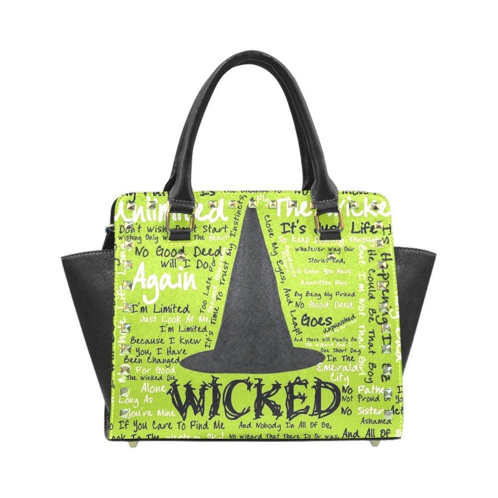 Fashion Wicked For High-grade PU leather Women Girls Black Rivet Shoulder Handbag/Tote Bag/Handbag HD-125