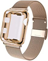 KOUUNN Compatible for Apple Watch Band 38mm 40mm 42mm 44mm with Screen Protector Case, Sports Wristband Strap...