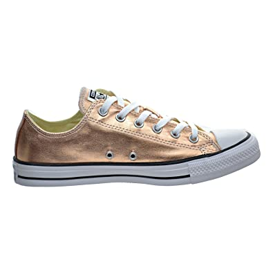 Image Unavailable. Image not available for. Color  Converse Unisex Chuck  Taylor All Star Ox Low Top Classic Metallic Sunset Glow White Sneakers 755e5bda3