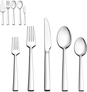 Giveaway: LIANYU 45-Piece Silverware Set with Serving Utensils