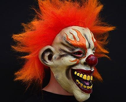 Creepy Evil Scary Halloween Clown Mask Rubber Latex SINISTER CLOWN