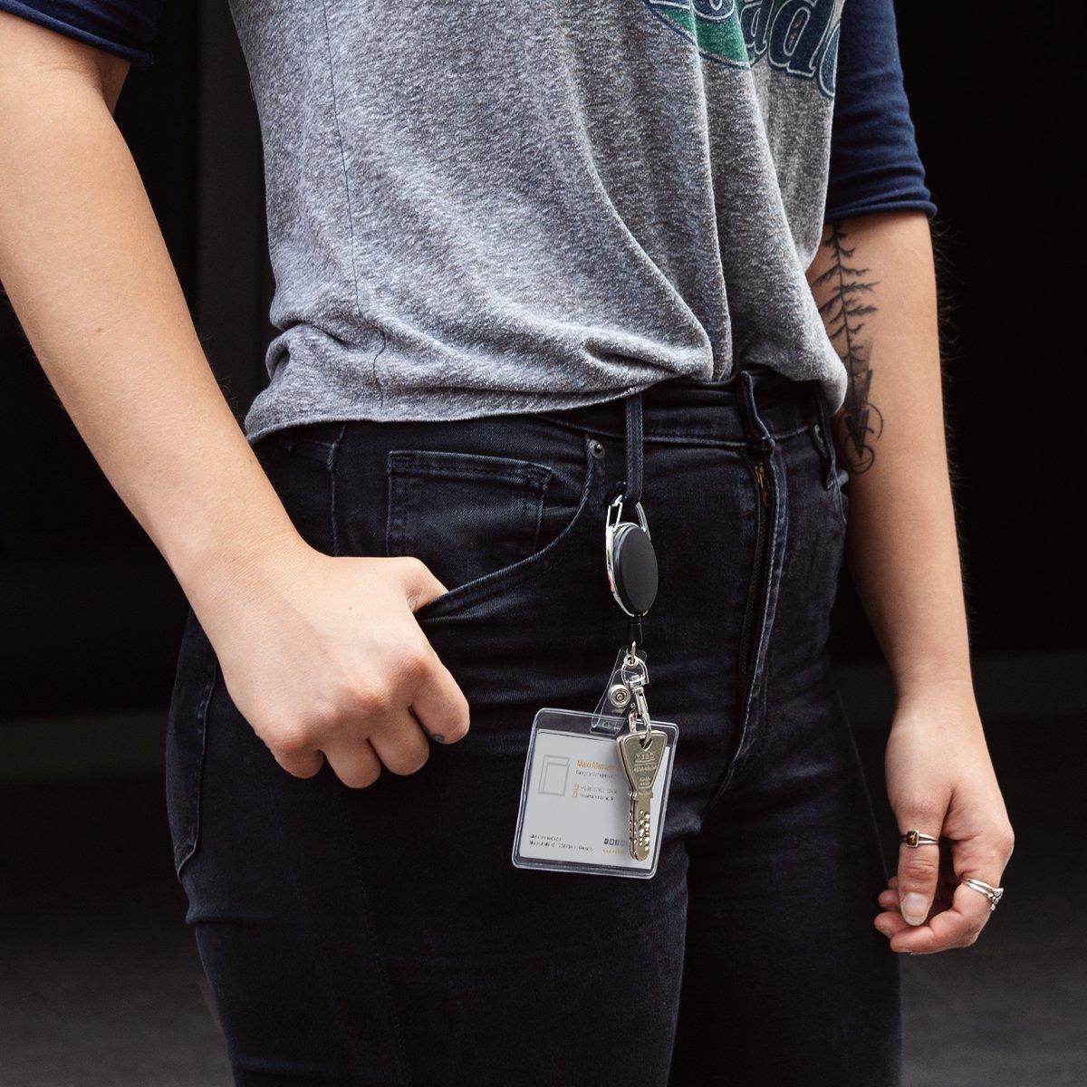cf0a2dd1285d kwmobile Porte-clés yoyo - Porte-badge enrouleur rétractable - Clip  ceinture mousqueton - Carte identité visiteur - Employé infirmier  entreprise  Amazon.fr  ...