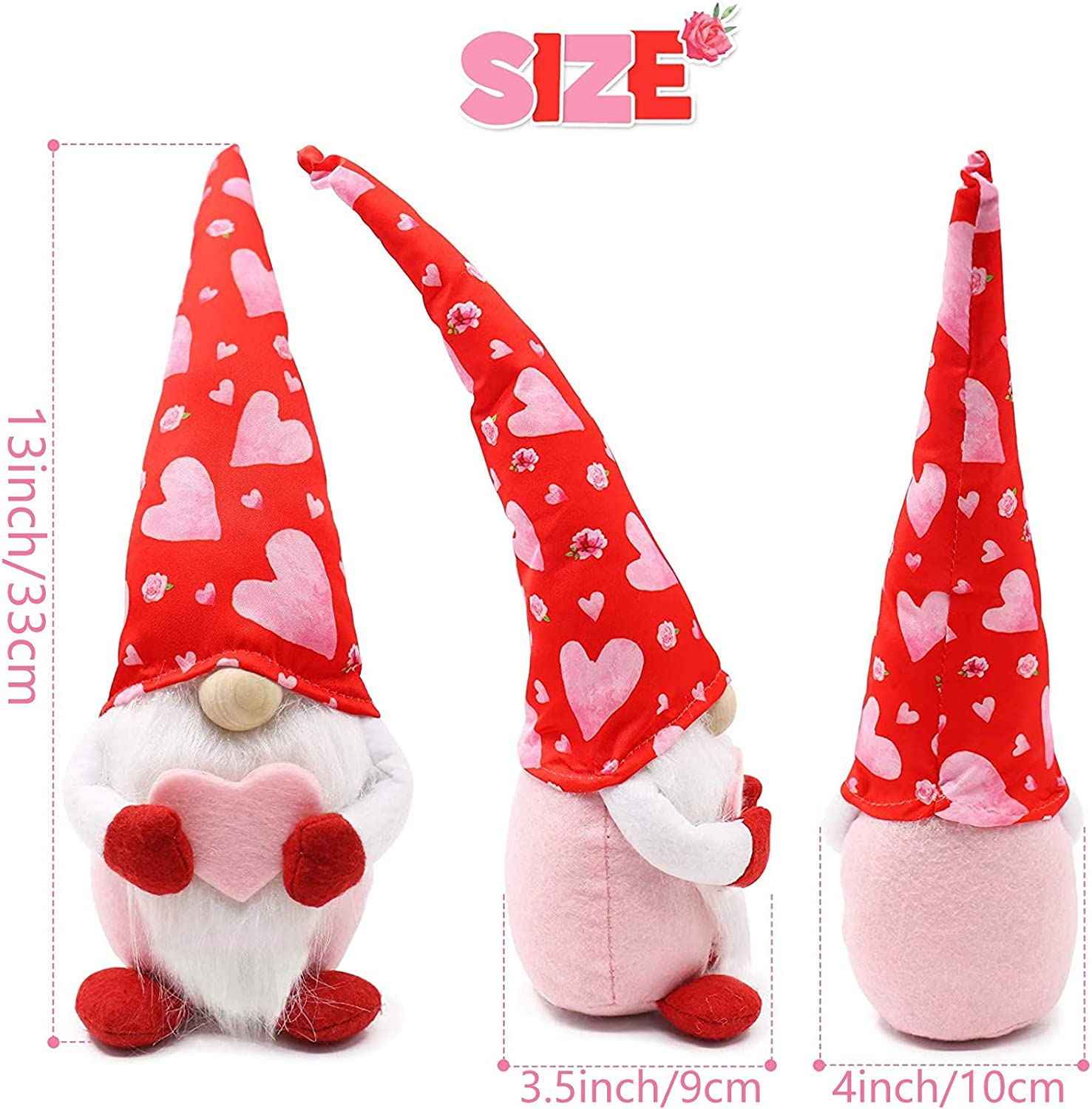 Wedding Lover Sweet Gift for Girlfriends Women Handmake Faceless Elf Couples Figurines Romantic Home Bedroom Decorations for Valentines Day Easter Men Valentines Day Plush Gnome Dolls Family