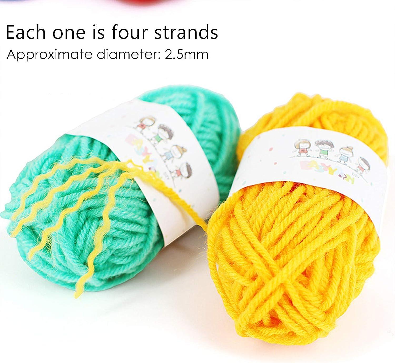 4 Taille Pompom Fabricants Tisserandes de Boules Peluches Travaux daiguilles Outils de Laine /à Tricoter DIY Kit Pompom Makers 12 Outils de Laine Faits /à la Main