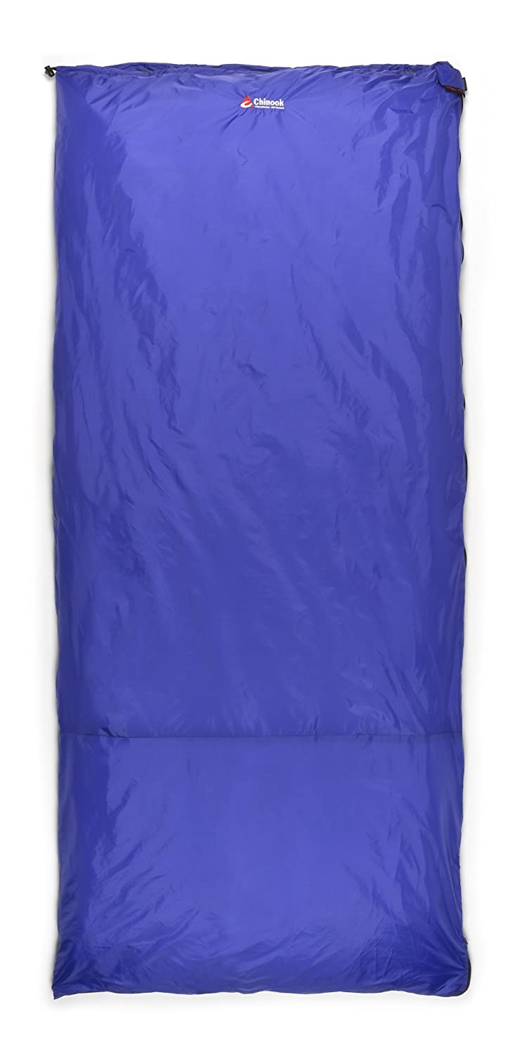 Chinook ThermoPalm Rectangular 50-Degree Synthetic Sleeping Bag, Blue, Large