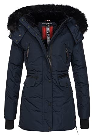 Navahoo Damen Winter Jacke Parka Teddy Fell Mantel Winterjacke warm B363