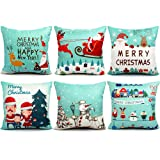 Amazon Price History for:6 Packs Christmas Pillows Covers 18 X 18 Christmas Décor Pillow Covers Christmas Decorative Throw Pillow Case Sofa Home Décor