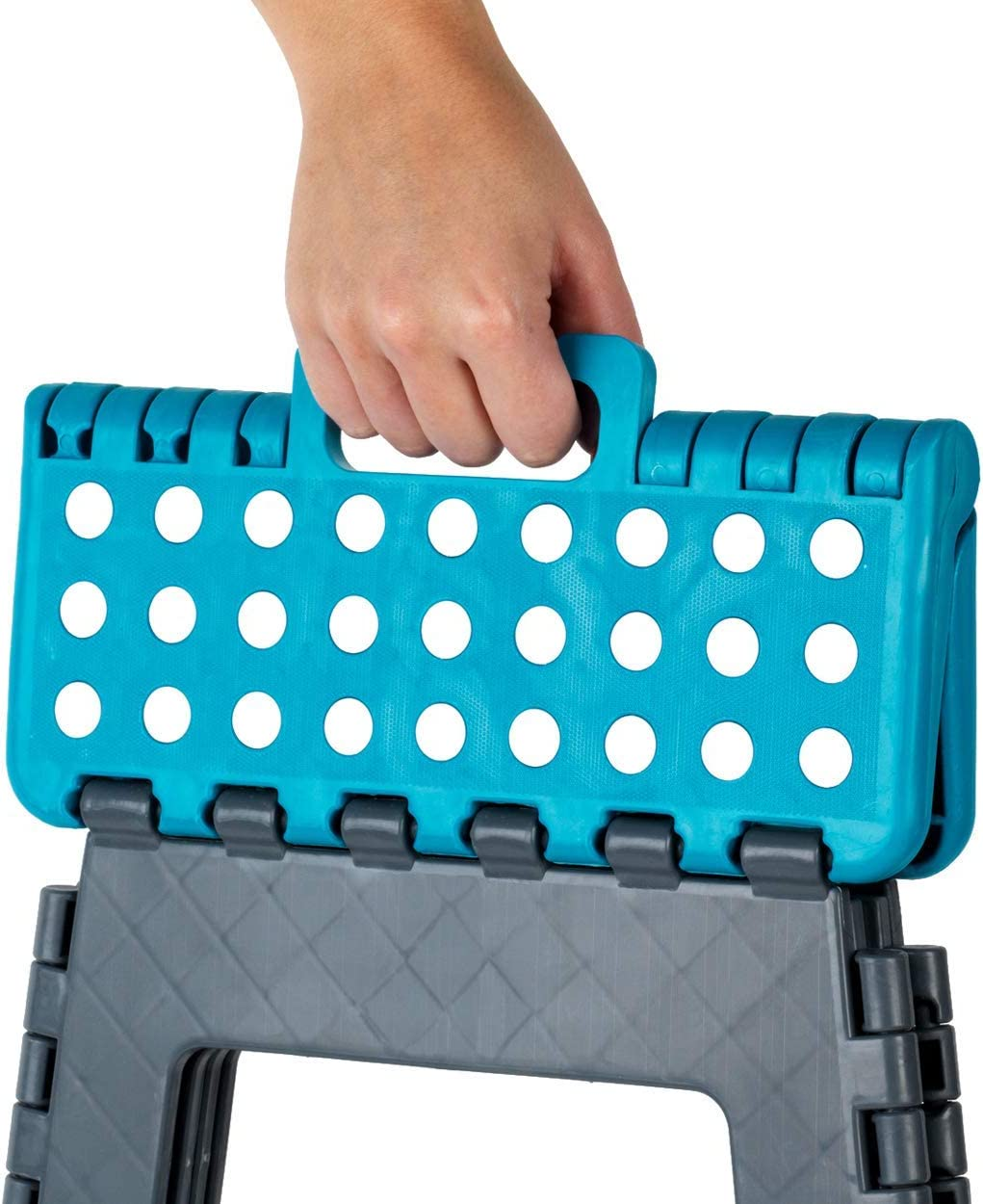 Beldray LA032614TQ Smal Folding Compact Step Stool with Carry Handle Turquoise