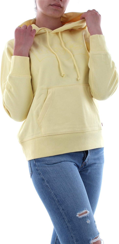 Levi's Damen Graphic Sport Hoodie Kapuzenpullover Yellow