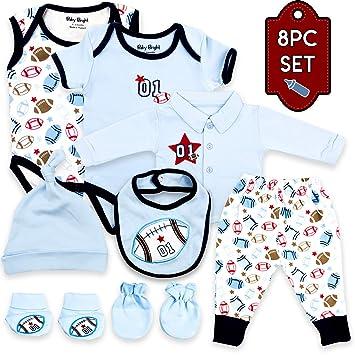 4 pc Newborn Baby Boy Ladies I Have Arrived Layette Set Hat Bib Romper 0-6 month