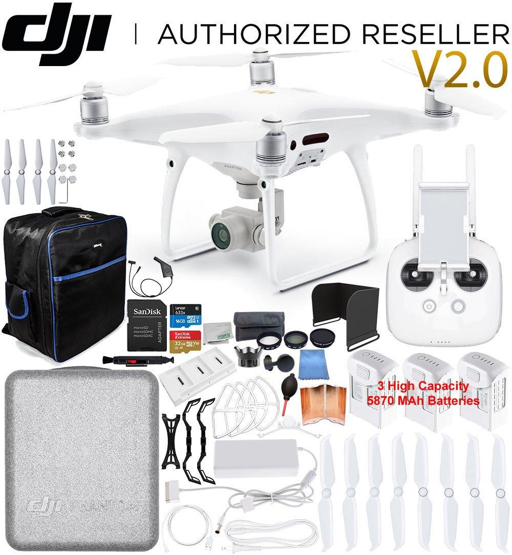 DJI Phantom 4 PRO V2.0/Version 2.0 Quadcopter 3 Battery Ultimate...