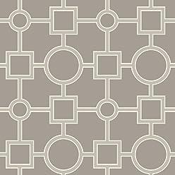 NuWallpaper NU1703 Utopia Geo Taupe Peel & Stick Wallpaper