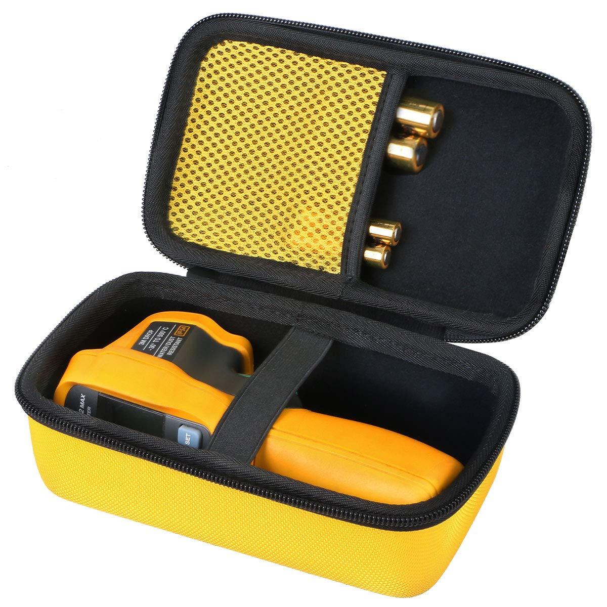 co2crea Hard Travel Case for Fluke 62 Fluke 64 Fluke 59 MAX MAX Plus Infrared IR Thermometer Yellow Case