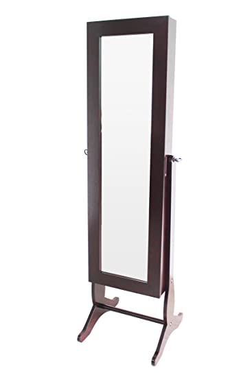 Amazoncom H2O Jewelry Cabinet Armoire Free Standing Full length