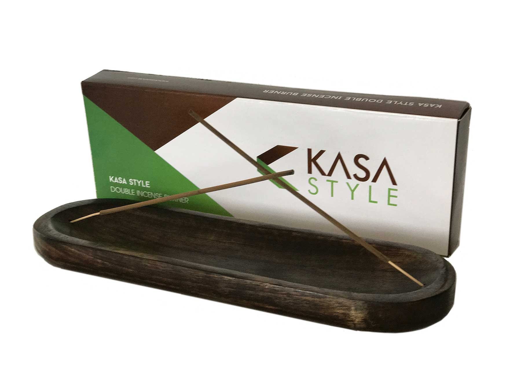Kasa Style Trough Antique Wood Hand Made Double Incense Burner Ash Catcher by Kasa Style (Image #2)