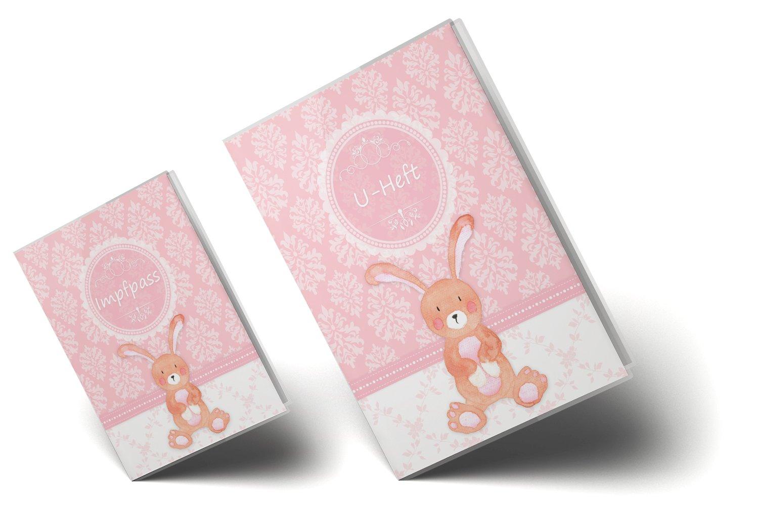 U-Heft Set 3-teilig, Elefant U-Heft H/ülle SET rosa Little Lady Untersuchungsheft /& Impfpassh/ülle