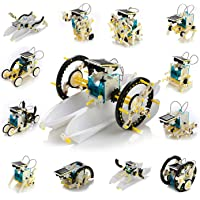 13-In-1 Solar Robot Kit - Build 13 Different Robot Vehicles, STEM Science Toy,for Kids Teens And Science Lovers