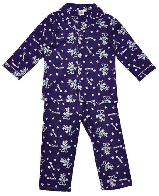 Niñas Disney Minnie Mouse Set de funda de algodón cepillado de largo pijama Morado morado large