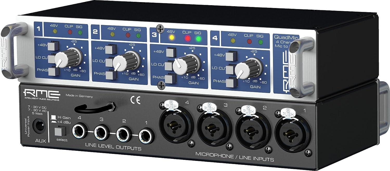 Rme Quadmic 4 Channel Analog Microphone Pre Amp Cable Neutrik Xlr 1 4quot Combo Jacks And Phantom Power Sound Design Musical Instruments