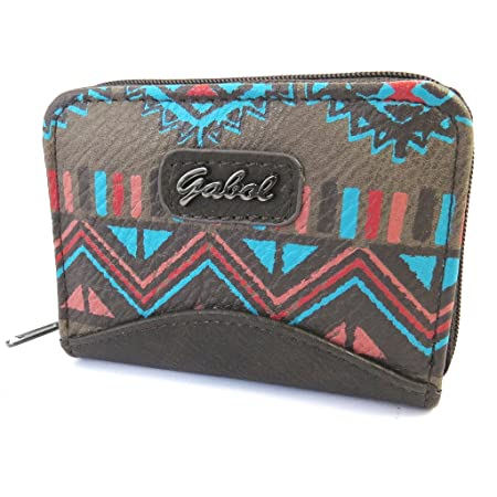 Monedero zip Gabolturquesa marrón (11.5x8x3 cm).: Amazon ...
