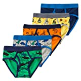 Amazon Price History for:B.GKAKA Little Boys 5-Pack Briefs Dinosaur Truck Kids Underwear