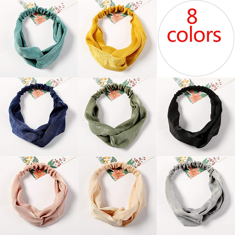 Women Headbands Cross Knot Turban Elastic Hair Bands Headwrap Girls Hairband Hair Accessories For Women Bandanas,42,Size Fits All