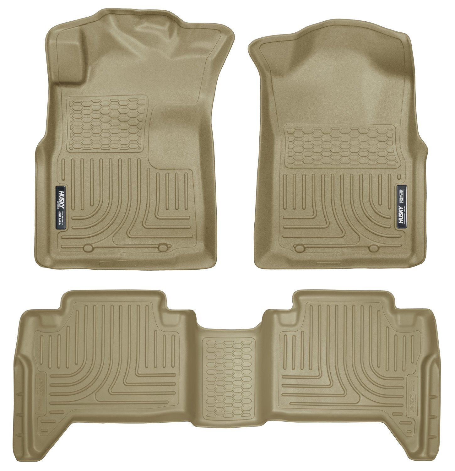 Husky Liners Front & 2nd Seat Floor Liners Fits 05-15 Tacoma Double Cab