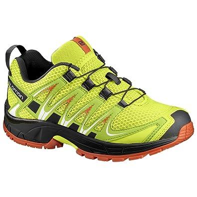 60fc71c8dff41 Salomon XA Pro 3D J, Chaussures de Trail Mixte Enfant, Vert (Lime Punch