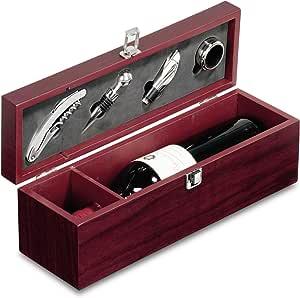 Compra Caja Regalo para botella con 4 Accesorios Vino en Amazon.es