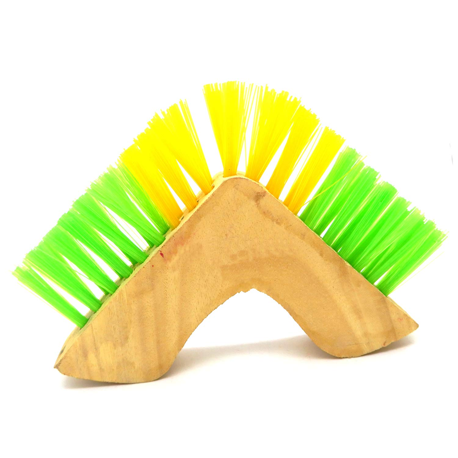 V Shape Wooden Brush Khandekar Window Cleaner Wooden Brush For Home//Kitchen//Office Glass Window track Corner Cleaners Brush