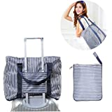 """Igoeshopping 20"""" Waterproof Folding Travel Pouch luggage packing Multifunction Duffel bag Clothes Organizer Storage Bag attach to suitcase,for Luggage,Sports Gear or Gym"""