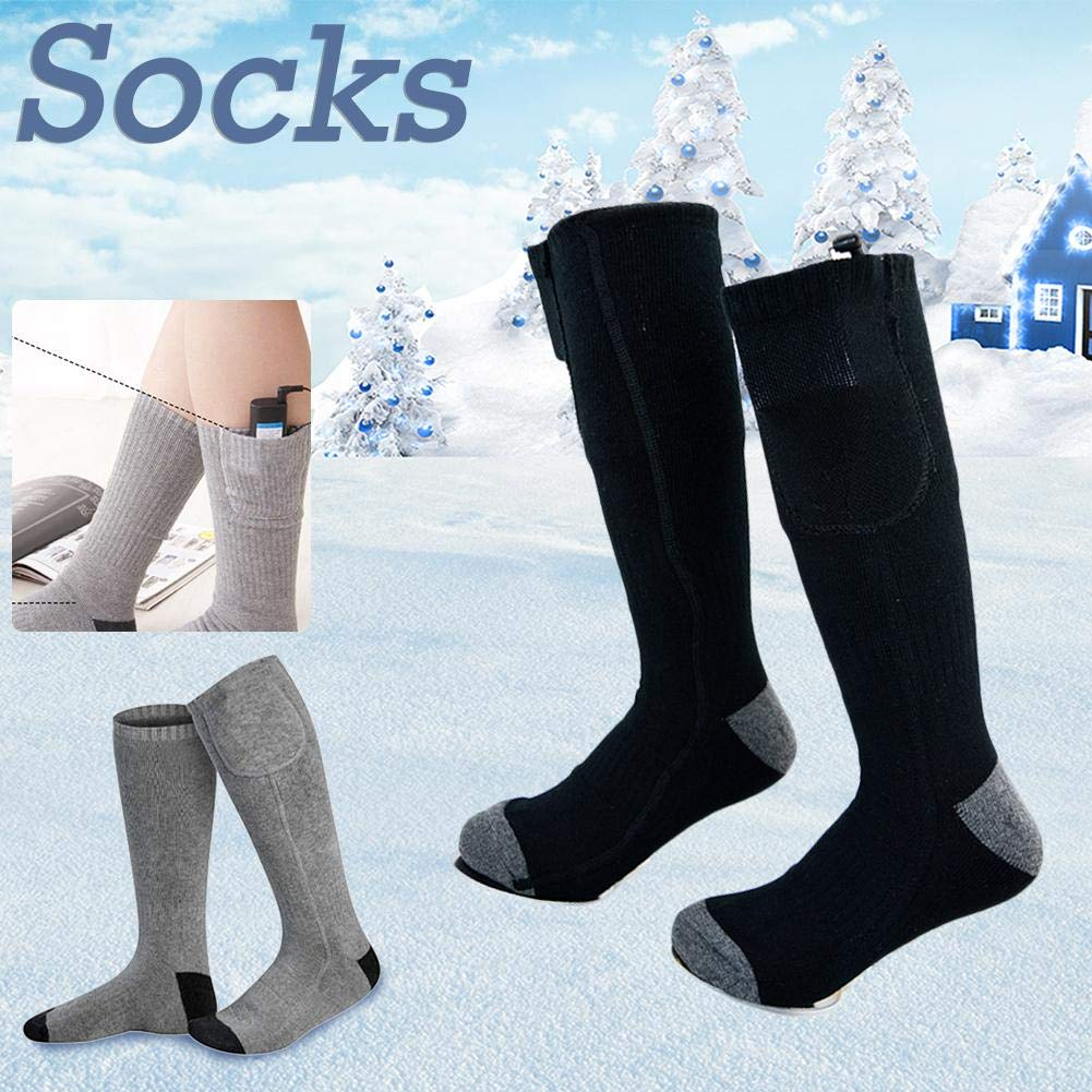 blue--net Rechargeable Electric Battery Heated Socks Kit Cold Weather Thermal Warm Socks