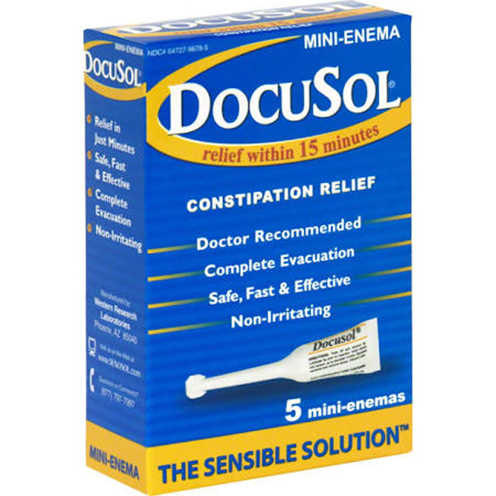 Docusol Mini Enemas - 5 ct, Pack of 3 by Docusol