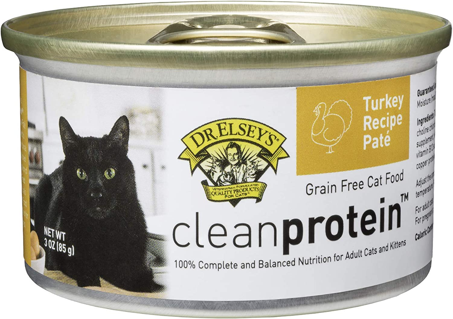 Dr. Elsey's Cleanprotein Turkey Formula Canned Cat Food, 3oz (Case of 18)