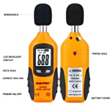 RISEPRO Decibel Meter, Digital Sound Level Meter 30 - 130 dB Audio Noise Measure Device Backlight MAX/MIN, Data Hold Auto Power Off Dual Ranges HT-80A