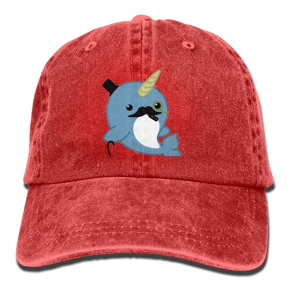XZFQW Fancy Narwhal Trend Printing Cowboy Hat Fashion Baseball Cap For Men and Women Black