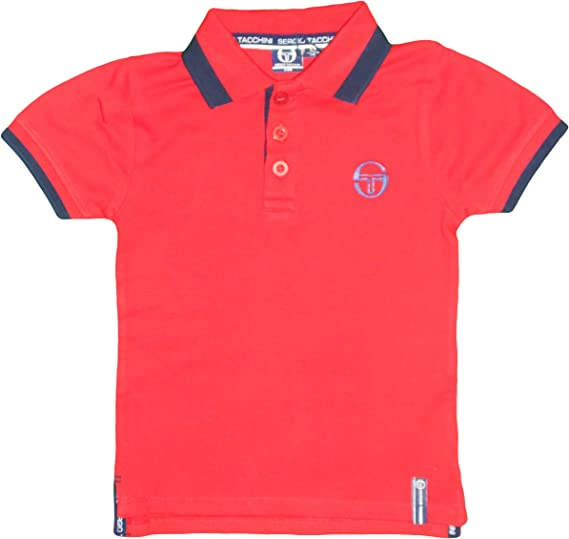 Sergio Tacchini Girls Sports Tennis T-Shirt Short Sleeve Cotton