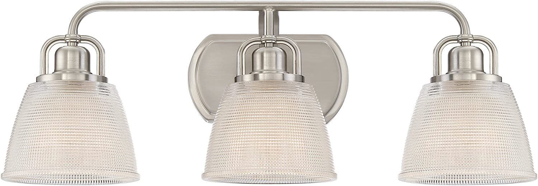 Quoizel DBN8603BN Dublin Vanity Bath Lighting, 3-Light, 300 Watts, Brushed Nickel 9 H x 25 W