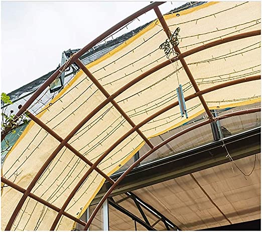 Vela de sombra toldo vela Para jardin patio 90% Tela de Sombra Sombrilla Con Ojales UV Con Arandelas Sombra de Malla de Protección Solar Cubierta Para Pérgola Cubierta Dosel Patio Trasero Instalacione: