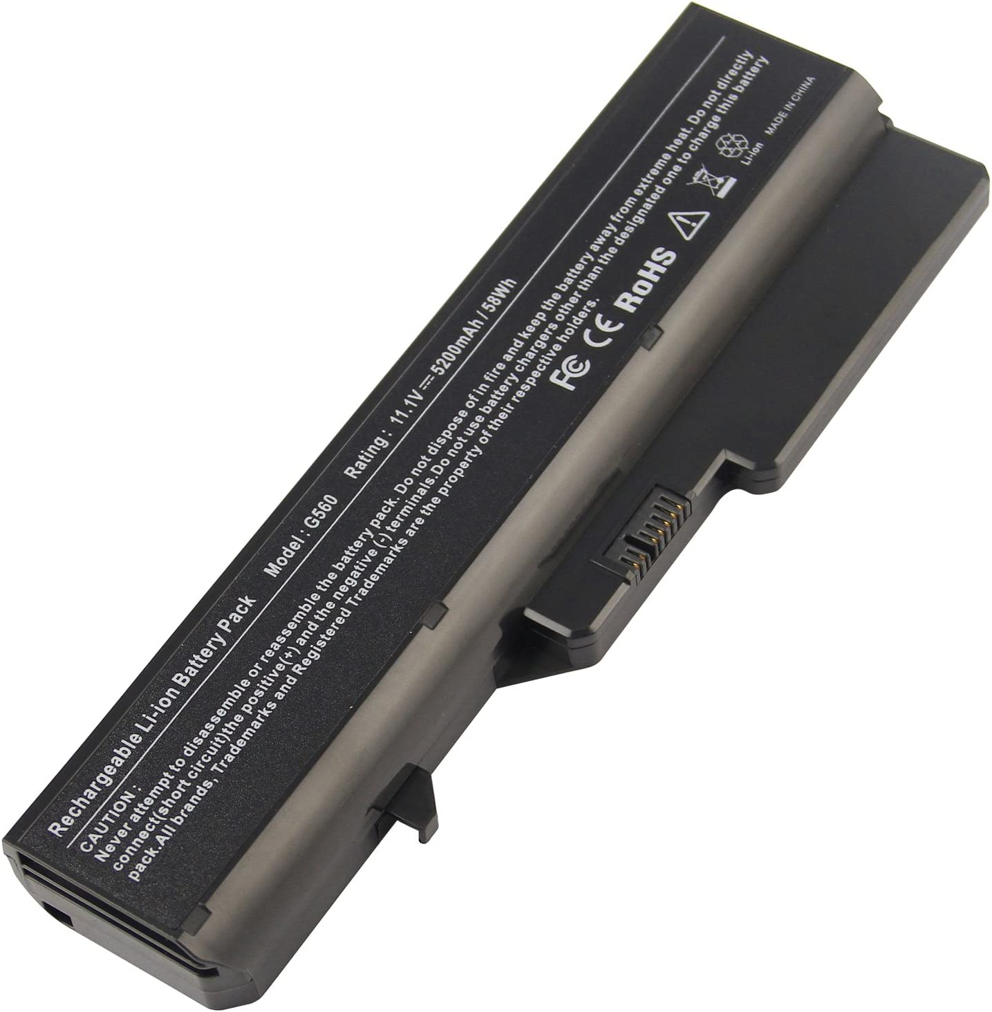 AC Doctor INC Laptop Battery for Lenovo IdeaPad B470 B570 G460 G465 G470 G475 G560 G565 G570 G575 V360 V370 V470 V570 Z370 Z460 Z465 Z470 Z475 Z560 Z565 Z570 Z575, 5200mAh/11.1V/6-Cell