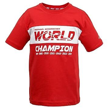 Michael Schumacher Kids - Camiseta World Champion Rojo: Amazon.es: Deportes y aire libre