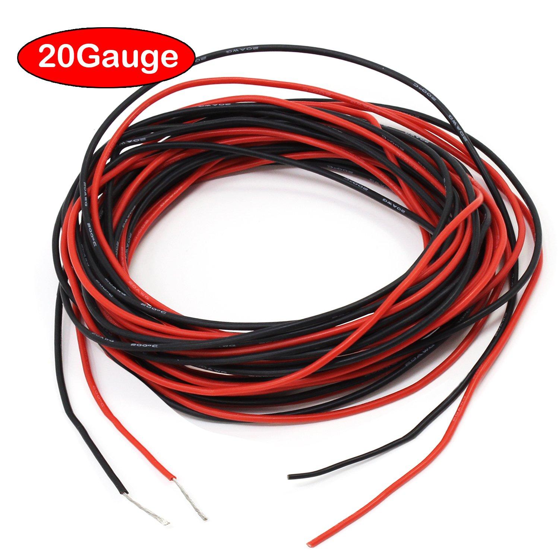 PsmGoods® 10 Füße 12 Gauge Silikon Draht Super Flexible Silikon ...