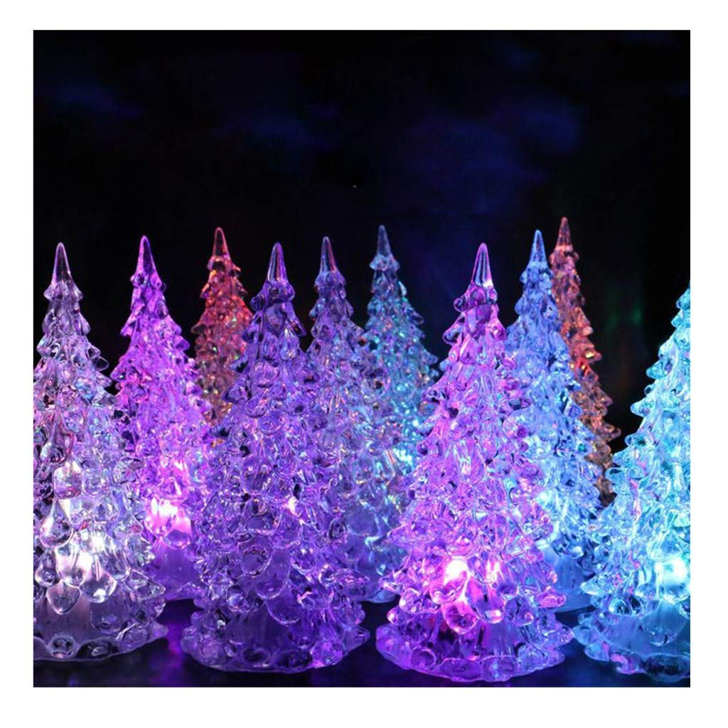 Midress 2PC Christmas Tree, Color Changing LED Light Party Decor Gifts Wedding Decor, Office Desktop&Cabinet Display (Multi)