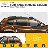 CVANU Roof And Rails Stylish Car Sticker For RENAULT DUSTER (C105_Black)Pack of 2