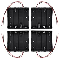 KEESIN Batterie 3.7 V 18650 support de batterie boîtier en plastique boîte de rangement avec Wire Leads et fixation serre-câbles((4 gouttes × 4 pièces))