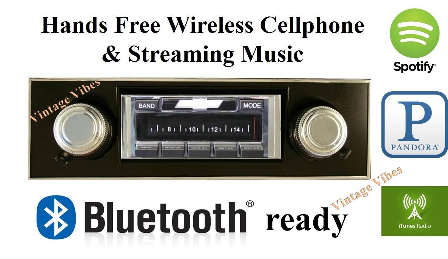 Amazon com: Bluetooth Enabled 1967-1968 Camaro BLACK Dash