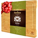 XXL Bamboo Cutting Board for Kitchen with Juice Groove - Best Wooden Chopping Board for Meat, Vegetables, Fruit and…