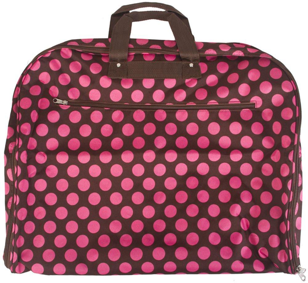 Polka Dot Hanging Garment Bag Carry On 40 Inch